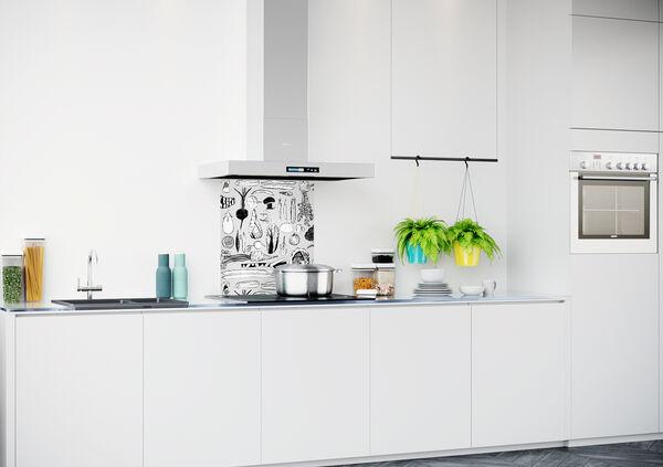 Achterwand keuken met patroon