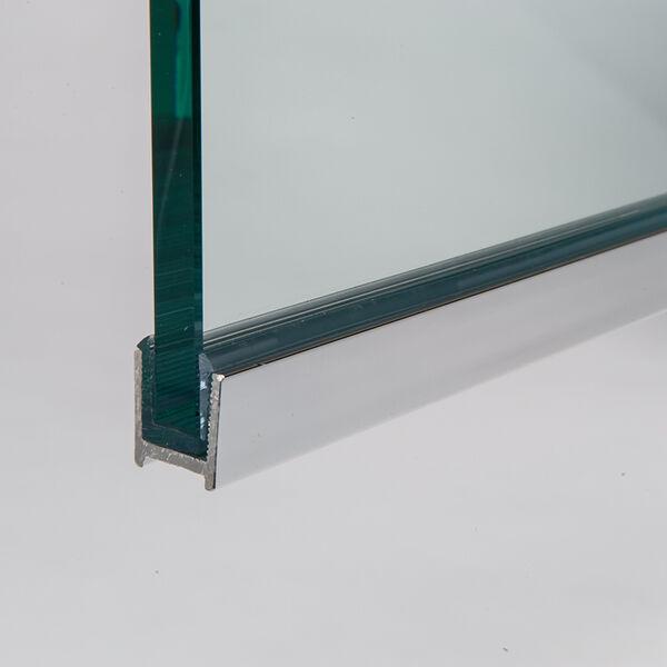 Glasprofiel zijlicht rvs finish