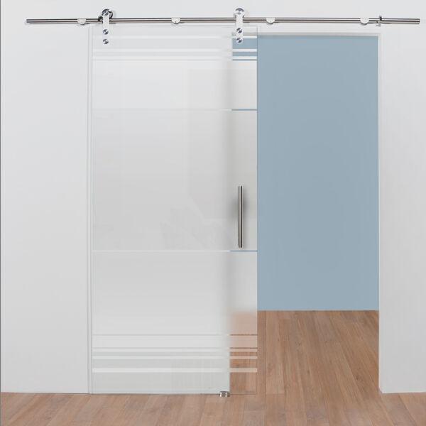 Glazen deur bestellen met zandstraalpatroon 2