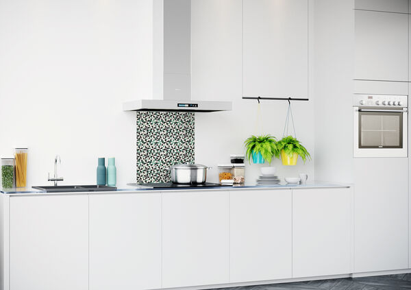 Glazen keukenachterwand met patroon 600x700