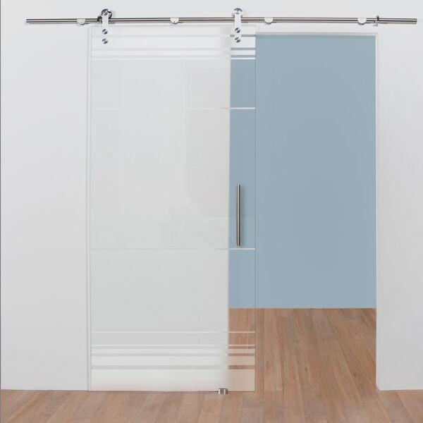 Glazen schuifdeur op maat patroon 3