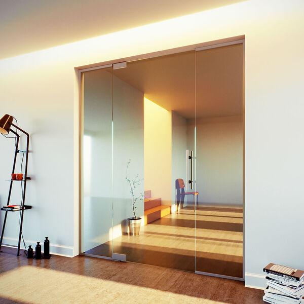 Glazen taatsdeur met onder- en bovenschoen en zijl