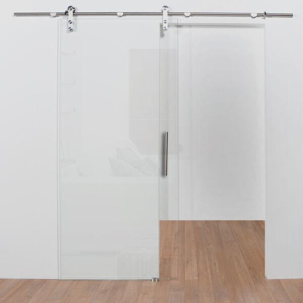 Schuifdeur van blank glas kopen