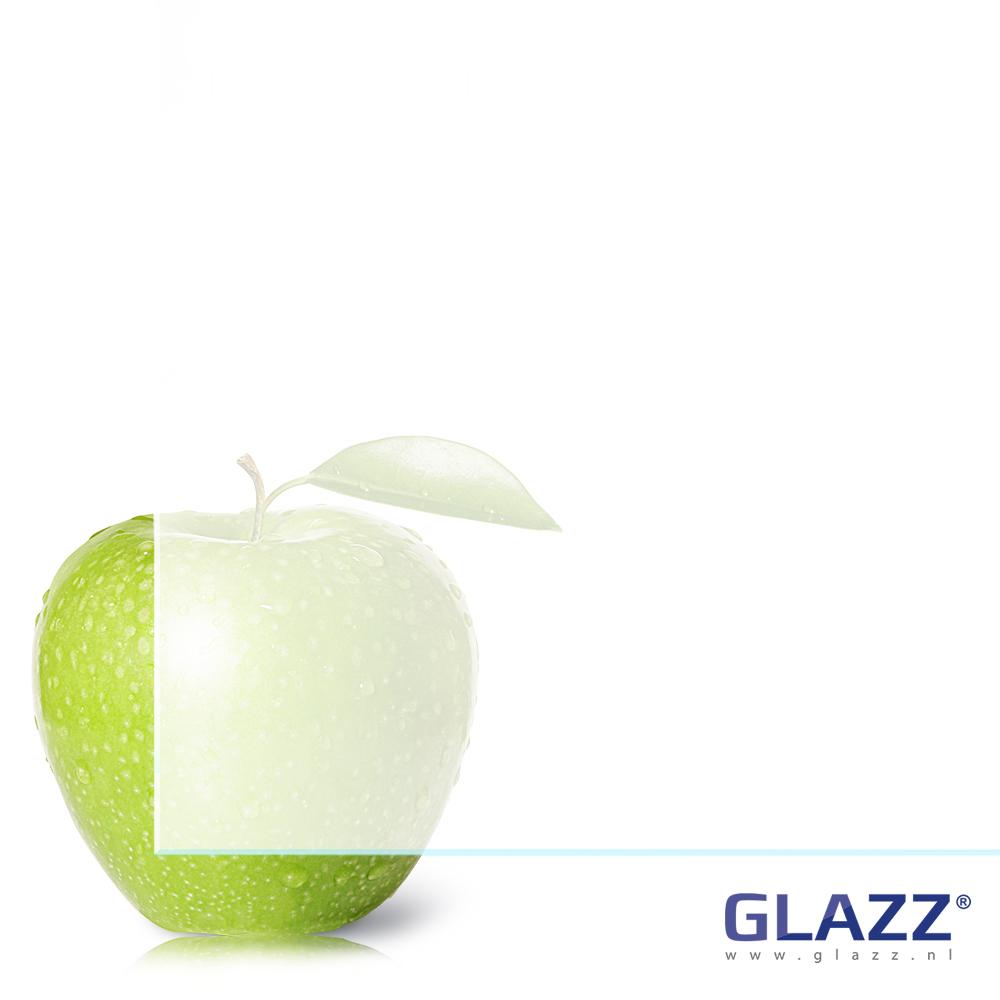 Blank extra helder satijnglas